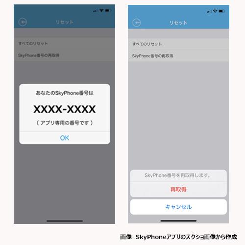 SkyPhoneはいつでも番号を変えられるアプリ
